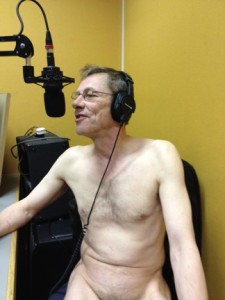 Martin Soan earlier this week, naked on radio