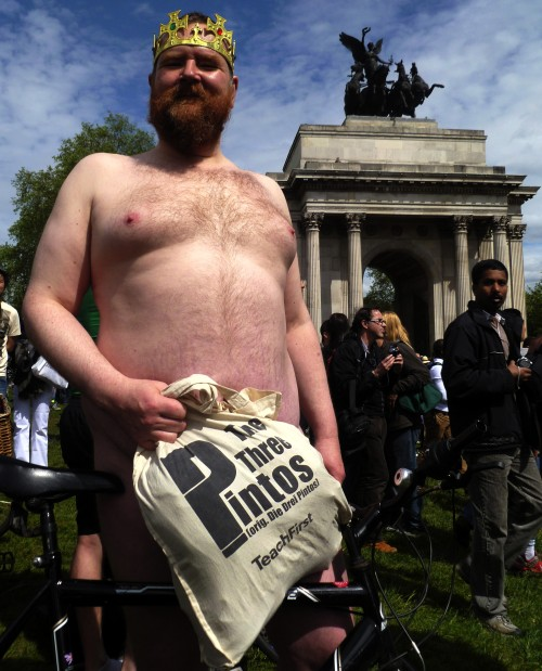 Peter Stanford at Wellington Arch, London, yesterday