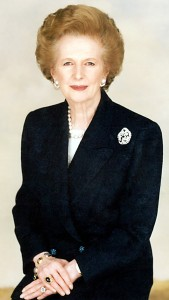 An inspiration: Margaret Thatcher