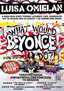 The Beyoncé poster/flyer designed by Luisa