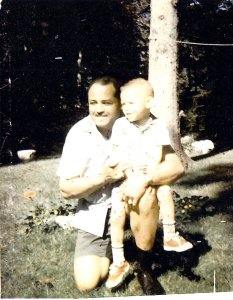 Calvin as a child with his father