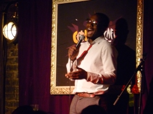 Jimmy James Jones performs at the Comedy Cafe last night
