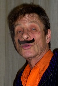 Martin Soan yesterday with unexplained moustache