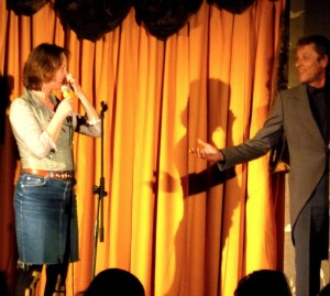 Vivienne & Martin Soan on stage at Pull The Other One this year