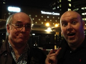 Me with Bob Slayer at BBC Television Centre yesterday