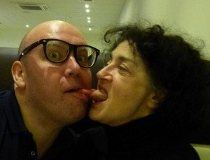 Bob Slayer & Kate Copstick exchange specs & tongues yesterday