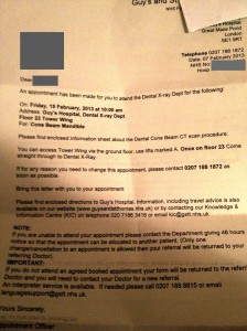 The letter from Guy's Hospital - bad timing