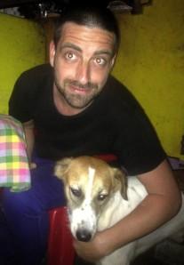 Matt Roper with a hair of the dog
