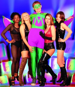 The outstanding Mr Methane with some of his fans