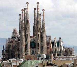 Scene of horror - Sagrada Familia in Barcelona