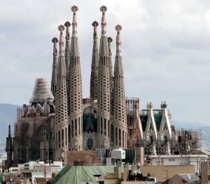Scene of horror - Sagrada Familia in Barcelona