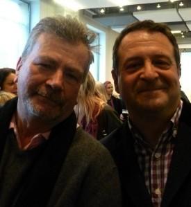 Bob Boyton (left) with Mark Thomas