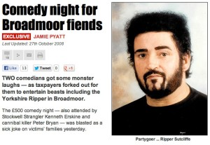 The Sun newspaper reports the 2008 Broadmoor comedy event