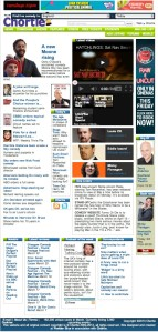 The Chortle website homepage this morning