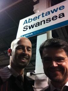 Chris Dangerfield & Trevor Lock in Swansea last November