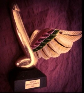 A highly coveted Erotic Award - the Golden Flying Penis