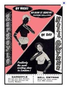 A poster for the Nell Gwynn/Gargoyle Club