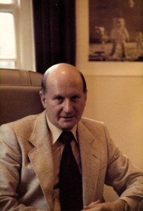 Gerry Anderson in his Pinewood office in 1979