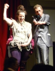 Grace Gelder & Mat Fraser on stage last night