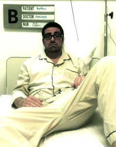 Matt Roper in hospital yesterday in Saigon (Photograph by nurse Than Thiet Sang)