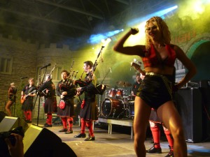 The Red Hot Chilli Pipers playing in Kiev last night