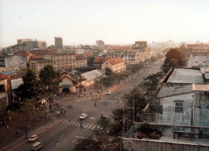 Saigon in 1989, from the roof of the Rex Hotel