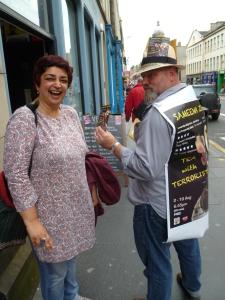Sameena with husband in Edinburgh last year