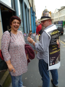 Sameena with husband in Edinburgh last year