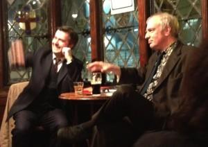 In Sohemia last night: Mark Seddon (left) and Martin Rowson