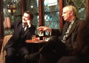 In Sohemia last night: Mark Seddon (left) and Martin Rowson