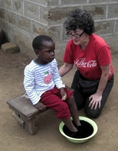 Kate Copstick in Kenya