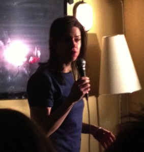 Lou Sanders last night started quite calmly