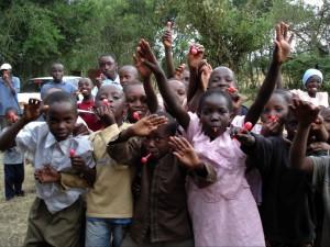 Some of the Kenyan children helped by Mama Biashara