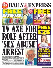 The Daily Express front page this morning