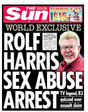 Yesterday's front page Sun exclusive
