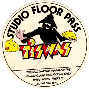 A studio floor pass for the show