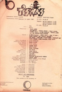 The script for the last edition of Tiswas