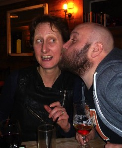 Vivienne Soan tries to fend off Bob Slayer last night