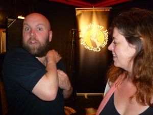 Bob with Claire Smith of The Scotsman at the 2012 Fringe