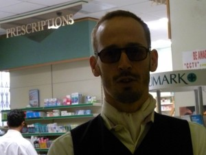 Chris Dangerfield in Soho yesterday