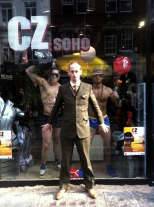 Putting the past behind him in Soho yesterday