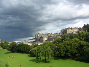 Edinburgh: pretty but with great big potential storm clouds