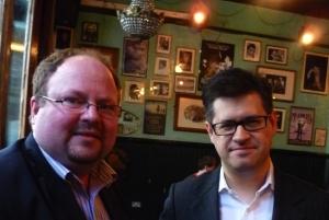 Robert Khan (left) and Tom Salinsky last night