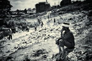 One of Nicolai's exhibited photos of Nairobi's Kibera slum