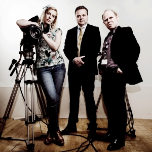 Sara Pascoe, Hal Cruttenden and Dan Starkey