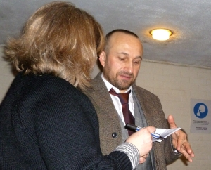 My eternally-un-named friend with Mat Ricardo in March 2012