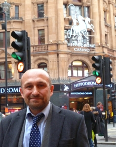 Mat Ricardo yesterday outside the Hippodrome in London