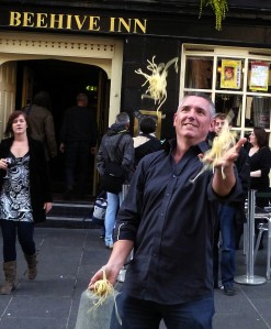Even British Mensa member Noel Burger had trouble juggling spaghetti in 2011