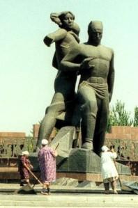 Tashkent earthquake memorial in 1985