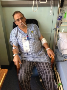 Egg-throwing man Andy Dunlop in hospital